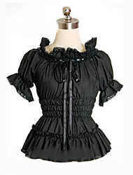 Short Puff Sleeve Cotton Classic Lolita Blouse