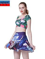 falda estampada sexy mediados de cintura delgada falda plisada del estilo del deporte ropa casual underdress de cmfc®women
