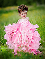 Girl's Summer Inelastic Thin Short Sleeve Dresses (Cotton Blends)