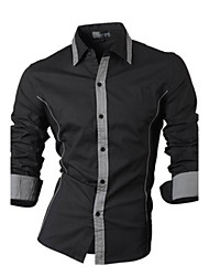 Super Hot Men's Casual Shirt Collar Long Sleeve Casual Shirts