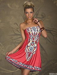 Women's One Shoulder/Strapless/Bateau/Ruff Collar Lace/Embroidery/Pleated/Backless Dress ,