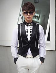 Black Cotton Tailorde Fit Vest