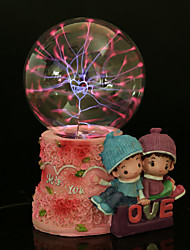 Resin Crystal Ball Lovers Rechargeable LED Lamp