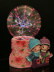 amantes bola de cristal de resina recargable lámpara llevada