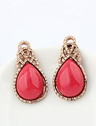 Earring Stud Earrings Jewelry Women Alloy 1set Red