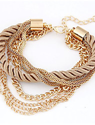 leather Charm BraceletsAlloy/Leather Bracelet Charm Bracelets Wedding/Party/Daily/Casual 1pc Christmas Gifts