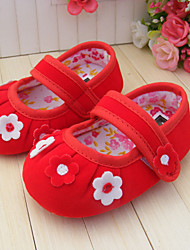 Baby Shoes Casual Satin Flats Purple/Red