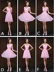 mélanger& robes match mini court en mousseline de soie / robes de demoiselle d'honneur 6 modèles (2839958)