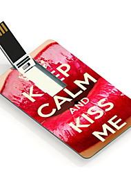 8gb mantenha a calma e beije-me unidade flash USB Cartão do projeto