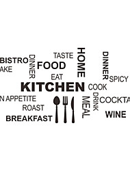 Wall Stickers Wall Decals, Style English Kitchen Appliances PVC Wall Stickers