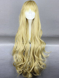 Fashion Cartoon Long Curly Golden Hair Wigs