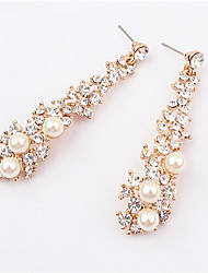 Masoo Women' Rhinestone  Pearl Earrings