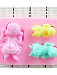 Mode 3d Flüssigsilikon Fondantkuchen Schokoladendekorationsform Küche Kochen Backformen modellingtools (gelegentliche Farbe)