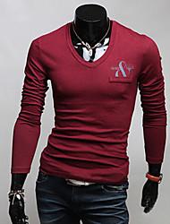 WSGYJ Men's Fashion Slim Long Sleeve Shirt