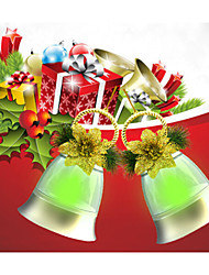Christmas Decoration Led Bell Model Lamp With Music Holiday Decoration Light (2pcs In One Colorbox,No Battery Included)