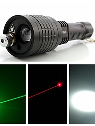 OXLasers OX-08-3 400lm LED Flashlight Torch with Green Laser and Red Laser pointer (18650*1 or AAA*3)