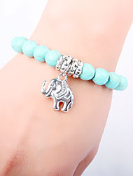 Retro National Storm Simmias Alloy Turquoise Bracelet