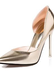 Women's Shoes Stiletto Heel Heels / Pointed Toe / Closed Toe Heels Dress Black / Pink / Silver / Gold