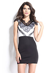Women's Eyelash Adorned Bodycon Dress