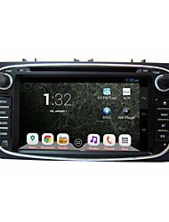 "Pure Quad Core Android 4.2 HD 1024*600 7"" Capacitive Screen Car 2DIN DVD for Focus with GPS+WiFi+3G Built-In"