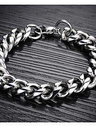- Ketten- & Glieder-Armbänder - Armbänder - für Hochzeit/Party/Alltag/Normal/Sport/N/A - Titanstahl - 1pc