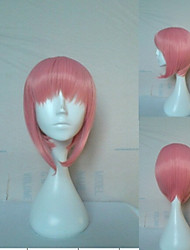 Pink Synthetic Hair Cosplay Wig Short Straight Animated Wigs Woman's Cartoon Wigs Party Wigs Full Wig