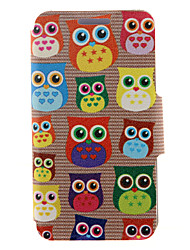 For Huawei Case Card Holder / with Stand / Flip Case Full Body Case Owl Hard PU Leather Huawei Huawei Honor 6