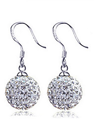 KIKI 925 silver retro fashion 10MM Diamond Earrings