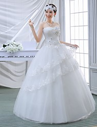 Ball Gown Wedding Dress Floor-length Sweetheart Tulle with Beading