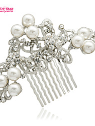 Neoglory Jewelry  Imitation Pearl and Rhinestone Hair Comb for Lady Bridal/Wedding/Daily/Pageant