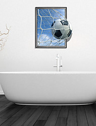Adesivos de parede adesivos de parede 3d, parede de futebol banheiro decoração mural pvc adesivos