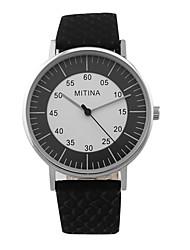Women's Fashion Big Digital Pointer Round Dial PU Leather Strap  Quartz Movement Wrist Watches (Assorted Colors)