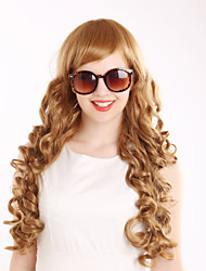 Women Synthetic Brown Wig Wavy 26 Inch
