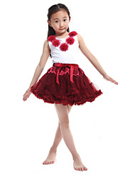 Performance Outfits Women's Performance/Training Chiffon/Cotton Red Kids Dance Costumes