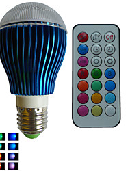 1 pcs SchöneColors® E26/E27 9W Dimmable/21Keys Remote-Controlled/Decorative RGB Led Globe  Bulbs AC85-265V