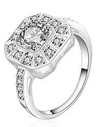 MONA Women's 925 Silver Top Selling Luxury Classic Diamond Ring