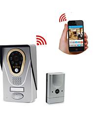 zoneway® kivos kdb400 720p hd wi-fi ip vídeo porteiro campainha ios de apoio e android app, armazenamento de cartão tf