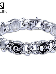 Kalen 2015 Men's Jewelry New Custom Fashion Casting Skull Charm Bracelet Christmas Gifts
