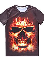 Informell Rund - Kurzarm - MEN - T-Shirts ( Baumwoll Mischung )
