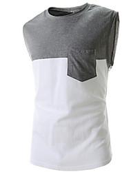 Vintage/Informell/Party/Business Ärmellos - MEN - T-Shirts ( Baumwolle/Kunstseide )
