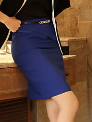 Women's Bodycon/Work Irregular Above Knee Skirts