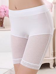 Damen Legging  -  Einfarbig/Gestickte Spitze Spitze/Bambusfaser Medium