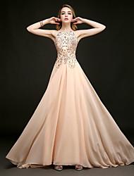 Sheath/Column Halter Floor-length Evening Dress