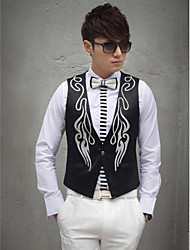 Black Cotton Tailorde Fit Vest