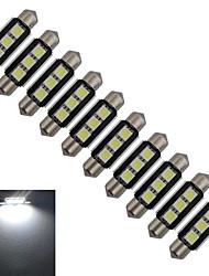 Festoon Lampe de Décoration 3 SMD 5050 60-70lm lm Blanc Froid DC 12 V 10 pièces