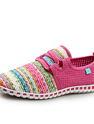 Scarpe Donna - Sneakers alla moda - Casual - Comoda / Punta arrotondata / Chiusa - Piatto - Finta pelle - Blu / Rosso / Blu scuro