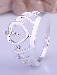 Fashion Simple Women's White Diamond Rings(1 Pc) Promis rings for couplesImitation Diamond Birthstone