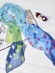 Lady's Bohemian Ethnic Print Paris Yarn Scarf Shawls(Assorted Color)