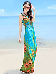 Women's Beach Dress Maxi Cotton