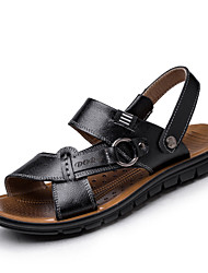 Men's Shoes Outdoor/Casual Leather Sandals Black/Brown